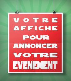 Une affiche pour votre evenement par GrafiSite